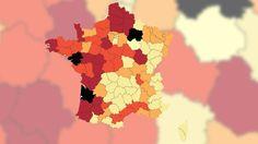 """Les équipes de """"Cash Investigation"""" et de francetv info ont dressé la carte de France des départements qui utilisent le plus de pesticides dangereux."""