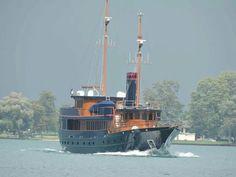 "138ft Motor Yacht ""Bread"" passing Marine City Michigan, 08/20/14"