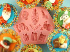 Sinterklaas mal - cupcake of taart decoreren - de Suikertante - Art2Bite