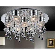 House of Hampton Begley 7 - Light Chandelier Style Modern Linear Flush Mount Chandeliers, Dining Room Lighting, Bubble, Drum Shade, Glass Shades, Ceiling Lights, Design Design, Interior Design, House