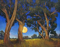 When The Moon Is Full by Jan Schmuckal Oil ~ 30 x 24