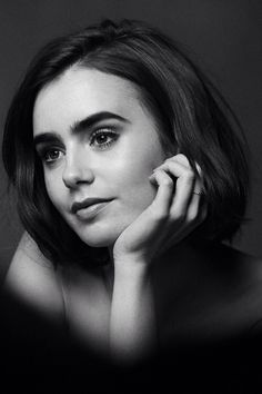 Welcome to the paradise of Lily Jane Collins, beautiful British and American actress and model. Poses Modelo, Love Lily, Famous Faces, Woman Crush, Belle Photo, Black And White Photography, Pretty People, Girl Crushes, Portrait Photography