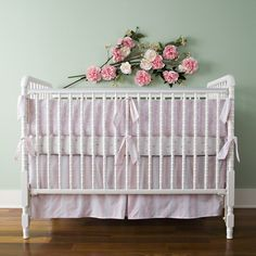 flowers above crib