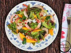 Peggyn pieni punainen keittiö: Aasialainen katkarapu-mangosalaatti