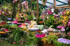 Casamento Sharon Azulay - Mesa de doces colorida para casamento