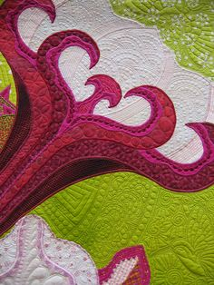 Detail shot: Lois Podolny's quilt  Desert's Glory