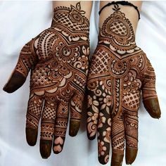 Such intricate work on these Bridal Palms  Henna designs like this transform our hands - which dont generally receive too much attention in life from plain and practical to precious Jewellery adorned works of art that all your guests want to marvel at! Stunning!!! #beautiful #pretty #amazing #wow #natural #asian #henna #mehndi #art #design #tattoo #bridal #girl #fashion #makeup #nails #jewelry #love #life #london #happy #gopro #photooftheday #photography #colorful #nature #view #gold #selfie…
