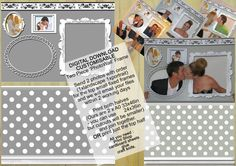 Digital Photo Wall, Weddings, Engagements or Parties, Photo Prop, Digital Photobooth, Frame Cut out, DIGITAL DOWNLOAD, DIY Party Printable by LMPhotoProps #photoprops #digital #lmphotoprops www.lmphotoprops.com