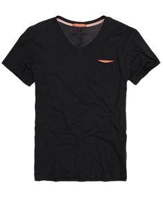 VINTAGE BLACK Superdry Dry Loft Vee T-shirt