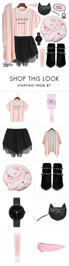 """""""Cute therapy"""" by pastelneon ❤ liked on Polyvore featuring Forever 21, Valentino, I Love Ugly, Karl Lagerfeld, Lancôme, By Terry and MAC Cosmetics"""