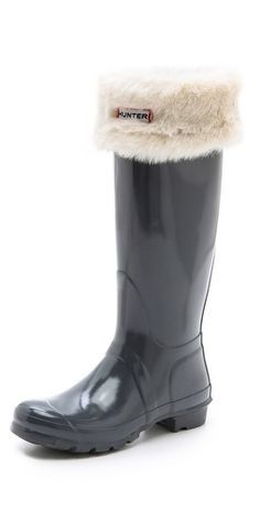 Hunter Boots Faux Fur Cuff Welly Socks   SHOPBOP