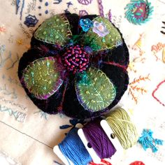 Felted Wool Pincushion-Love me or Leaf Me