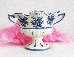 Vase en porcelaine ancien Capodimonte ITALIE par VintageSyell