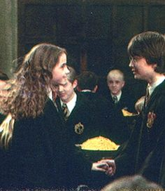 Can we all just notice how Draco is staring at Hermione!!!!