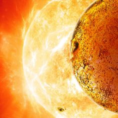 An artist's conception of Kepler-78b, the first Earth-size planet outside the solar system that has a rocky composition like that of Earth. Kepler-78b whizzes around its host star every 8.5 hours, making it a blazing inferno and not suitable for life as we know it.