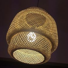 Plumen 001 bulb in Ilse Crawford's Sinnerlig Rattan shade for IKEA