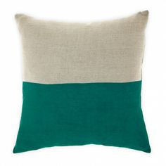 Dipped teal cushion - hardtofind.