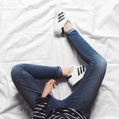 Sneakers with jeans for everyday look is my absolute favorite