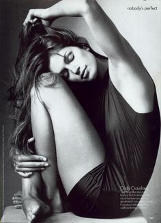 """""""Nobody's Perfect"""". Cindy Crawford photographed by Irving Penn for US Vogue, September 1994"""