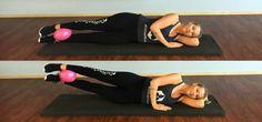 Pilates Ball Workout: Beinheben
