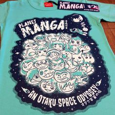 Planet Manga  fitted Ladies Tee  Size: M  by WestostCartoonLovers