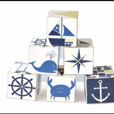 Too cute nautical wood blocks ETSY