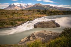 Paine waterfall - Chilean Patagonia
