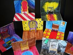 DREAM DRAW CREATE: Have a seat Vincent! Pop up chairs inspired by Van Gogh Grade…