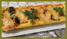 Tarte au saumon fumé et brocoli / Oh la Gourmande ... Pizza Legume, 20 Min, Vegetable Pizza, Zucchini, Chicken, Vegetables, Breakfast, Food, Quiches