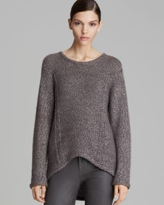 HELMUT by Helmut Lang Sweater - Flecked Alpaca Pullover
