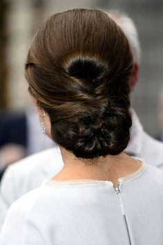 Kate Middleton's flawless updo #hair #inspiration
