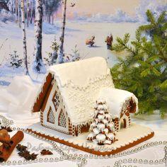 """Купить """"Морозко"""" - новогодний пряничный терем - пряничный домик, пряник, расписные пряники, подарок на новый год"""