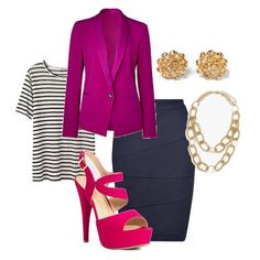 Add vibrant colors to your office wear for some spark! Try a fuchsia platform sandal to spice up your wardrobe.