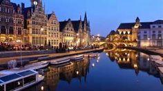 Graslei in Gent. Perfect voor een gezellig terrasje!