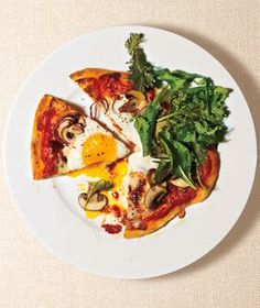 Mushroom and Egg Pizzas