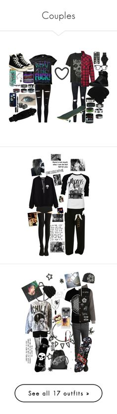 """Couples"" by literaldisaster ❤ liked on Polyvore featuring Converse, Anna Sui, Manic Panic NYC, Hot Topic, Loungefly, Marvel, AMIRI, Gap, Dakine and Supra"