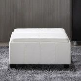 Found it at Wayfair - Elegant Leather Storage Ottoman