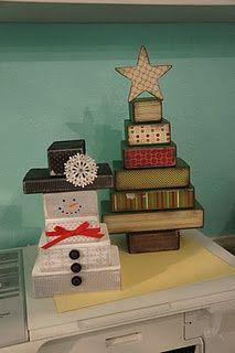 2x4 snowman | 2x4 Snowman & Christmas Tree. | Santa and the Elves