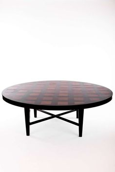 Large Round Dining Table by William Haines | From a unique collection of antique and modern dining room tables at https://www.1stdibs.com/furniture/tables/dining-room-tables/