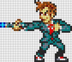 David Tennant Doctor Who perler bead pattern