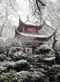 Aiwan Pavilion (爱晚亭), Changsha, Hunan.