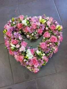 Stunning pink heart wreath
