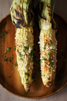 Mexican corn, yum.....I just came up with a cool idea for this Saturday's bbq!  :)