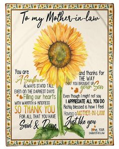 Daughter In Law, Mother In Law, Mother Day Gifts, Happy Mothers Day, Mother Quotes, Mom Quotes, Forever Love, Cursed Child Book, Beautiful Family