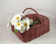 Oversized Grape Vine Woven Basket  Vintage Dusty by DivineOrders, $23.00