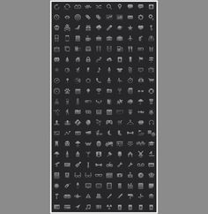 200 iPhone iPad Mobile Apps Icons - http://www.dawnbrushes.com/200-iphone-ipad-mobile-apps-icons/