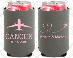 Destination Wedding, Neoprene Wedding, Travel Wedding, Airplane, Heart, Neoprene Wedding Favors (92)