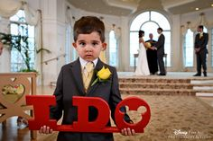 This little one is as cute as can be! #Disney #wedding #ringbearer #WeddingPavilion