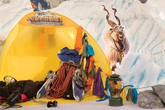 Ropes, snowshoes, tents, lanterns, and all other outdoor gear is game for your craggy outdoor decor. Learn more about Everest VBS by visiting http://www.group.com/everest. #EverestVBSDecorating #EverestVBS2015