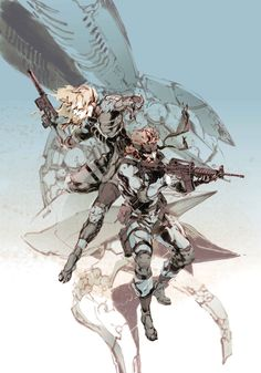 MGS2. Raiden & Snake. Yoji Shinkawa.